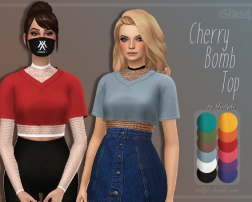 Cherry Bomb Top & Accessory Fishnet Top by Trillyke