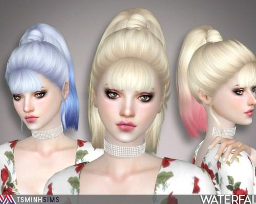 Waterfall Hair 47 by TsminhSims