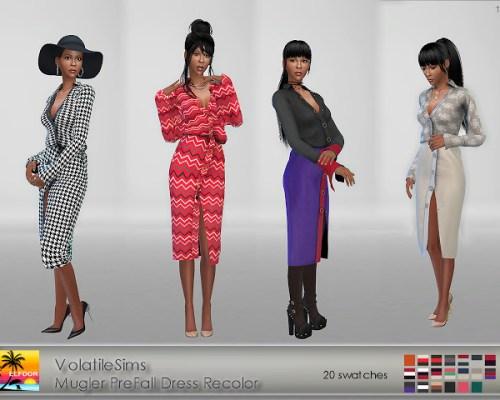 VolatileSims Pre-Fall Shirt Dress Recolor