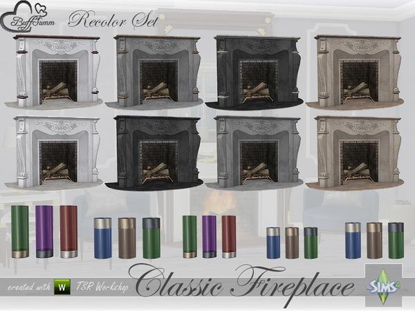 Classic Fireplace Set Recolors By BuffSumm