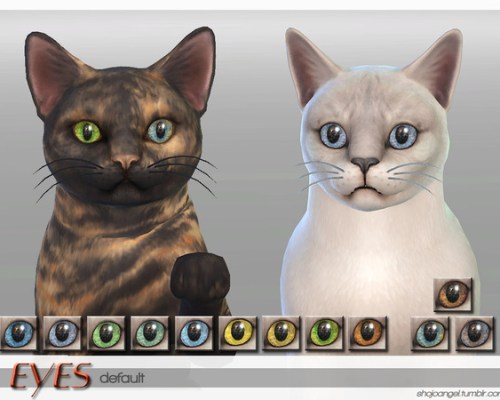 Eye Set 2 Cats by ShojoAngel