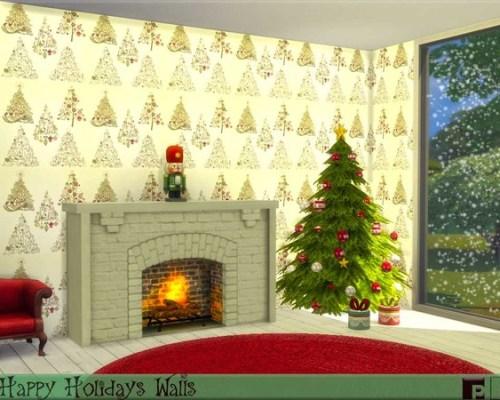 Happy Holidays Walls by Pinkfizzzzz