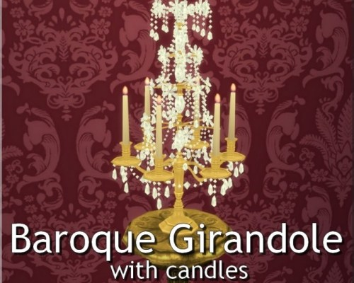 Baroque Girandole with Candles by TheJim07