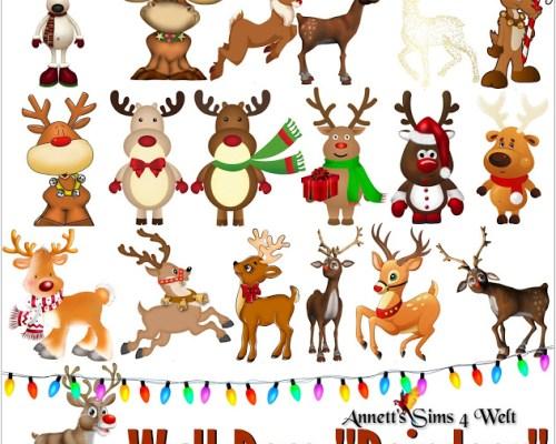 Wall Deco Reindeer