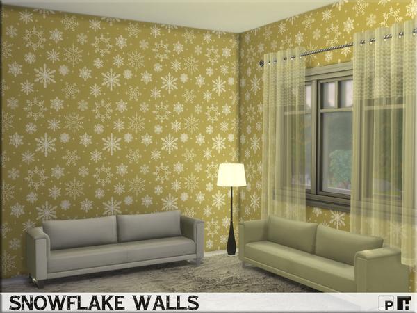 Snowflake Walls By Pinkfizzzzz