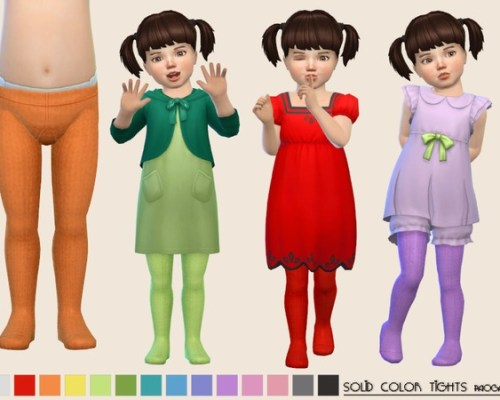 SolidColor Tights by Paogae