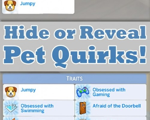 Hide or Reveal Pet Quirks by MattBrancher
