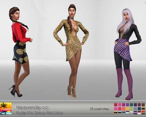 Heavendy-cc Kylie FN Dress Recolor