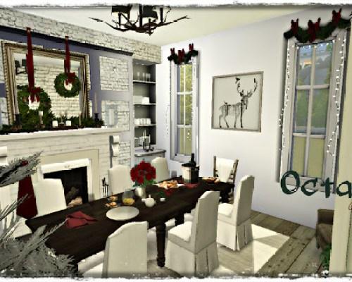 Octavia Holiday decorated Dining Room