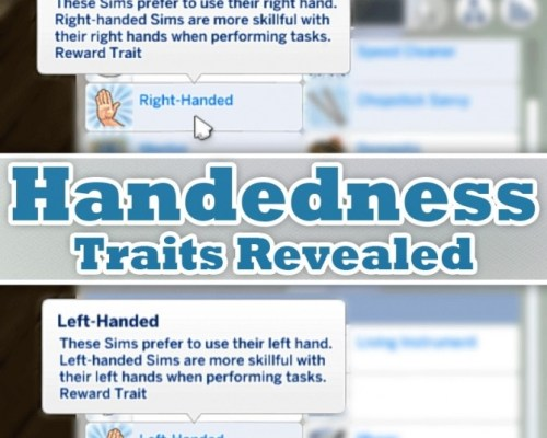 Reveal the Handedness Traits by MattBrancher