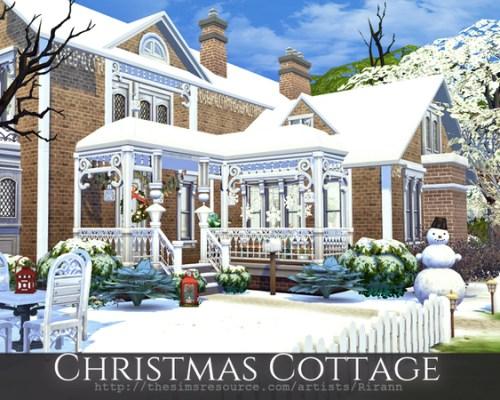 Christmas Cottage by Rirann