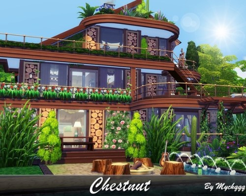 Chestnut wooden house built by MychQQQ