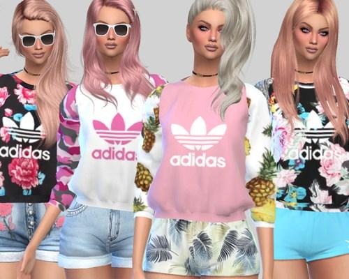 Sandy and Luna Sporty Sweatshirts by Pinkzombiecupcakes