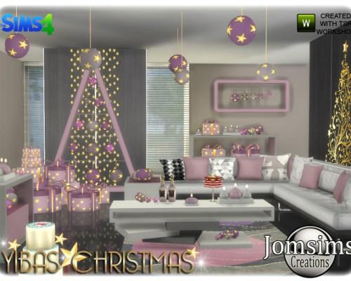 Yibas Christmas living room by jomsims