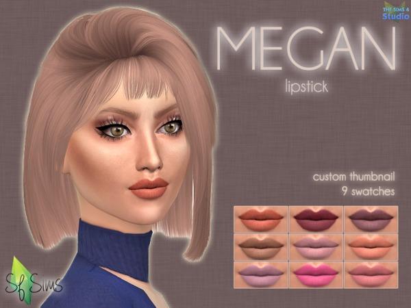 MEGAN Lipstick By SF Sims