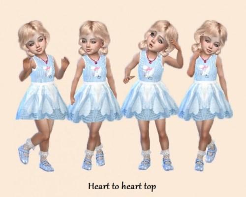 Heart to heart T top dress