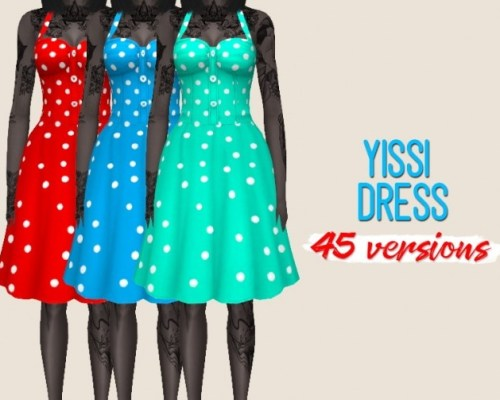 Yissi Dress recolors by midnightskysims