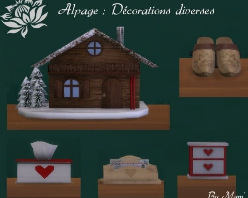 Alpage various decorations by Maman Gateau