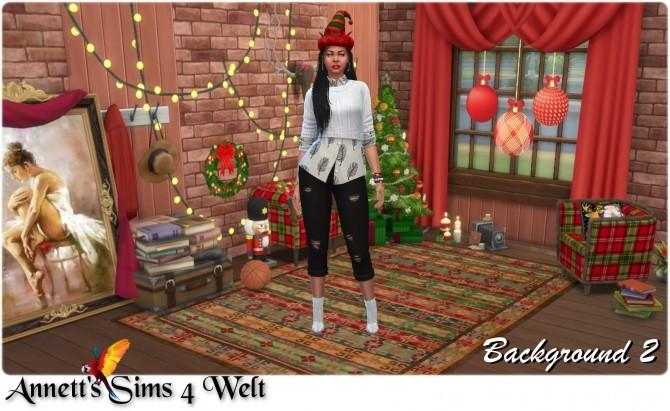 CAS Background Christmas Room