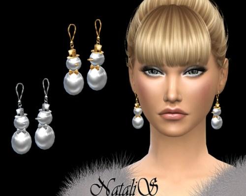 Snowman earrings by NataliS