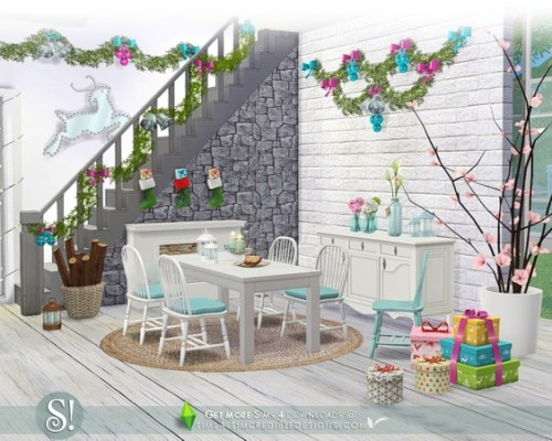 Happy Holidays festive decor items by SIMcredible
