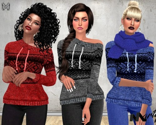MP Off Shoulder Sweaters by MartyP