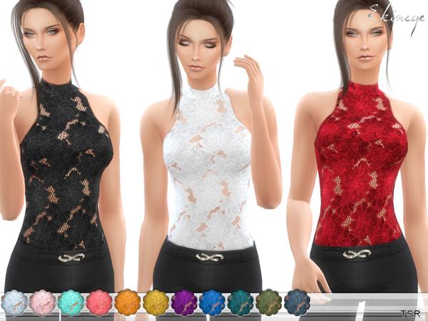Floral Lace Bodysuit (Top) By Ekinege