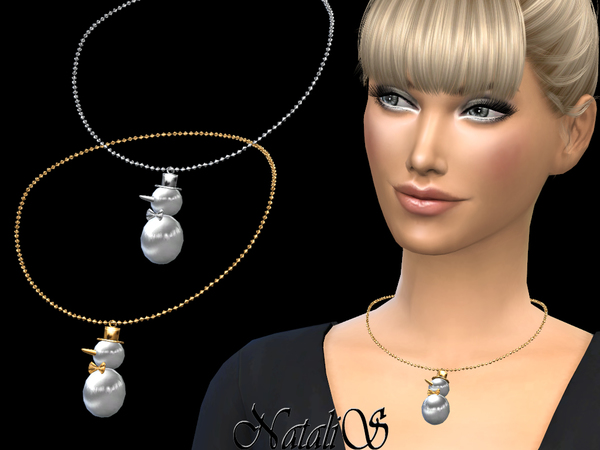 Snowman Necklace By NataliS