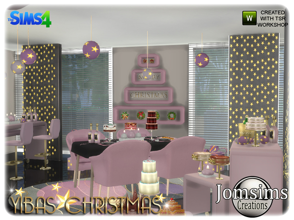 Yibas Christmas Dining Room By Jomsims