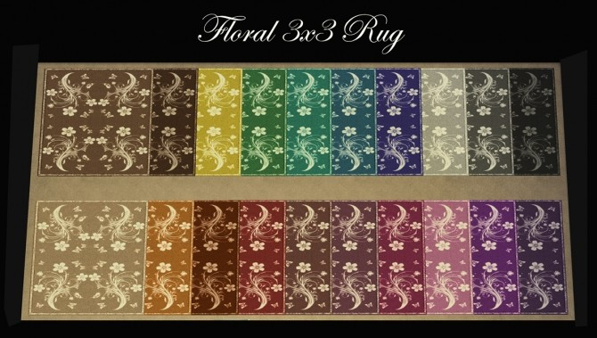 6 3X3 Rugs 115 Colours By Simmiller