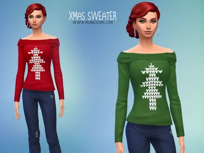 Xmas Female Sweater By Simone