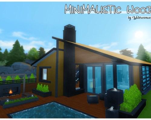 Minimalistic Wood house by Waterwoman