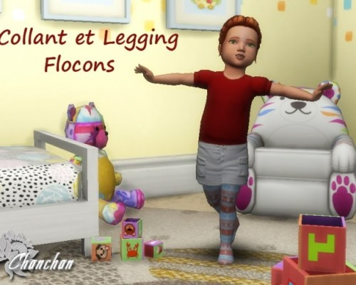 Flocon leggings for toddlers by Chanchan24
