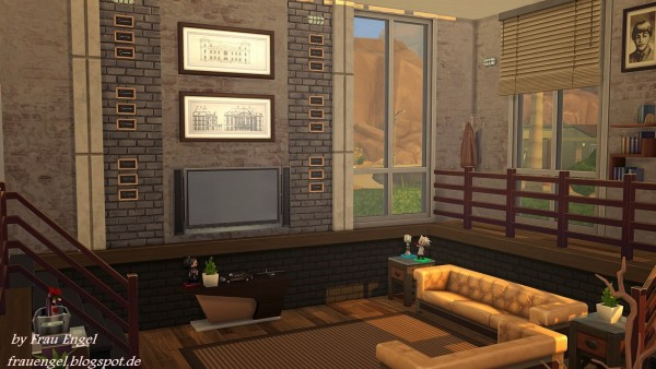 Frau Engel Industrial Loft Sims 4 Downloads