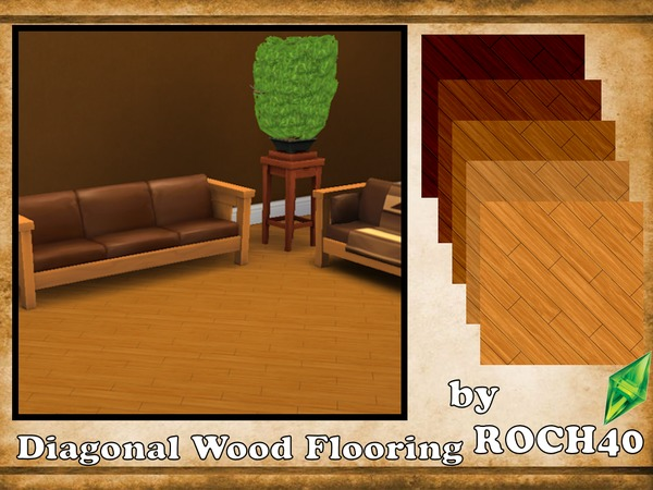 The Sims Resource Diagonal Wood Flooring by ROCH40  Sims 4 Downloads