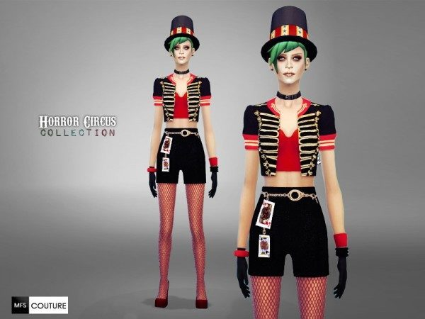 MissFortune Sims Horror Circus Collection  Sims 4 Downloads