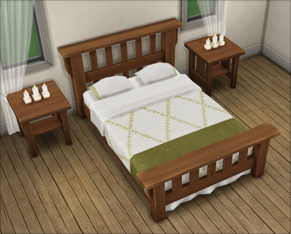 Mod The Sims 16 Colorful Single Mission Bed Replacement
