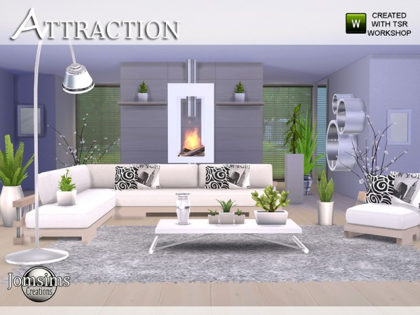 The Sims Resource Attraction living room by jomsims