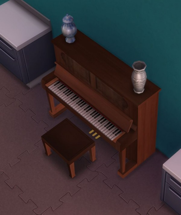 Mod The Sims Simple Upright Piano by uglybreath  Sims 4