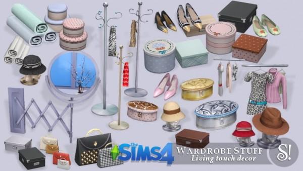 SIMcredible Designs Wardrobe stuff  Sims 4 Downloads