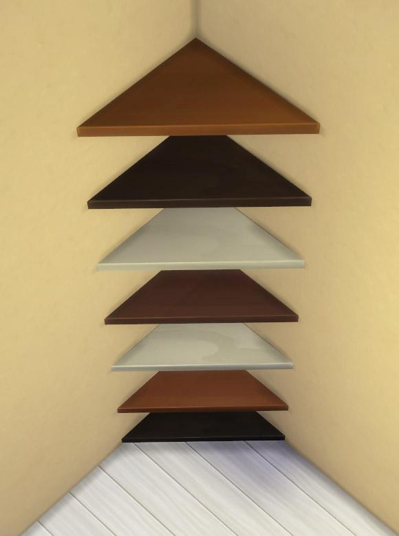 Mod The Sims The Mega Minimal Corner Shelf by