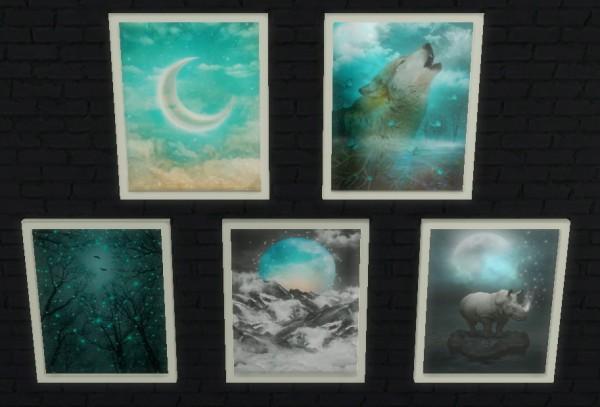 Sunshine  Roses Custom Content Mystical Wall Art  Sims
