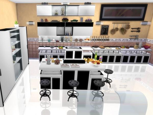 Mod The Sims Modern Kitchen By Sim4fun Sims 4 Downloads