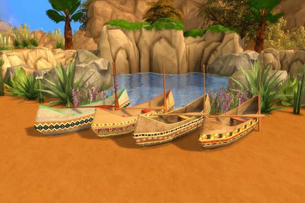 Blackys Sims 4 Zoo Indian decor set by sylvia60  Sims 4