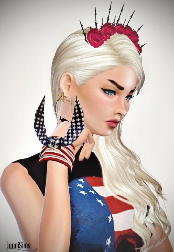 Jenni Sims Dress Skull Flag  Bracelet Flag Bandana
