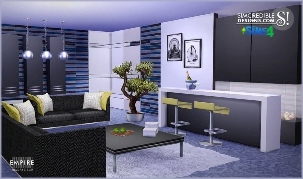 Simcredible Designs Empire Livingroom Sims 4 Downloads