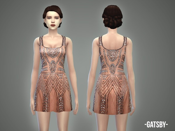 The Sims Resource Gatsby Dress By April Sims 4 Downloads