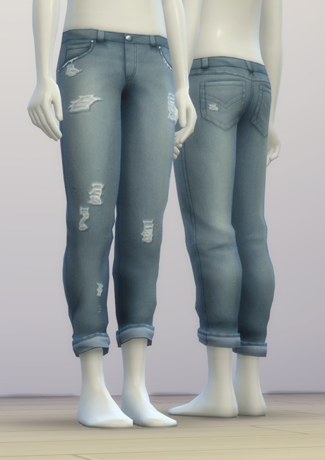 Rusty Nail SP03 Distressed jeans  Sims 4 Downloads