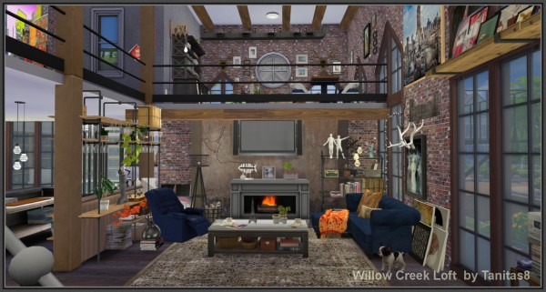 Tanitas Sims Willow Creek Loft  Sims 4 Downloads