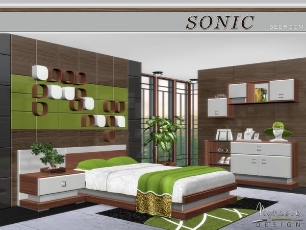 The Sims Resource: Sonic Bedroom by NynaeveDesign  Sims 4